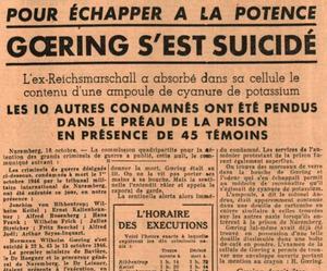 Une du Figaro du 17 octobre 1946.