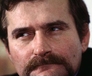 L'homme à la moustache, Lech Walesa, en 1981.