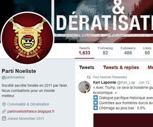 L'ancien compte Twitter du Parti Noeliste.