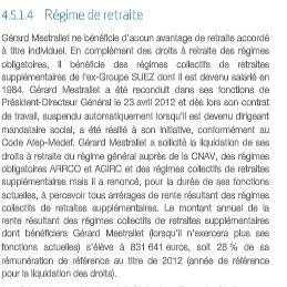 Le montant de la retraite-chapeau de Gérard Mestrallet