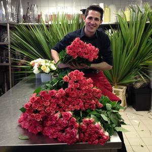 Guillaume Henry, le fleuriste du Plaza Athénée.