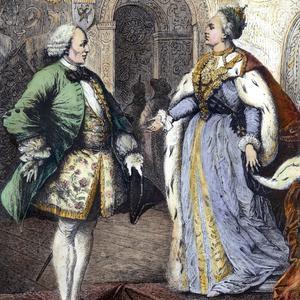 Le philosophe Denis Diderot avec l'impératrice Catherine II à Saint-Pétersbourg en 1773-74.