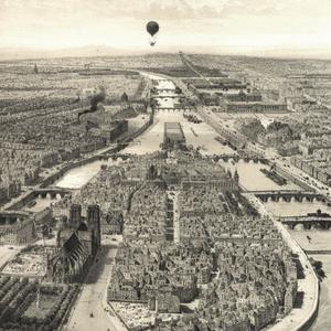 L'île de la Cité, lithographie de Jules Arnout, vers 1850.