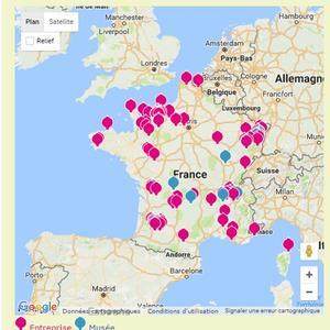 Carte des entreprises de spiritueux.