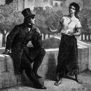 Illustration des «Misérables» deuxieme livre: Marius et Eponine.