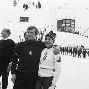 Jean-Claude Killy et Marielle Goitschel.