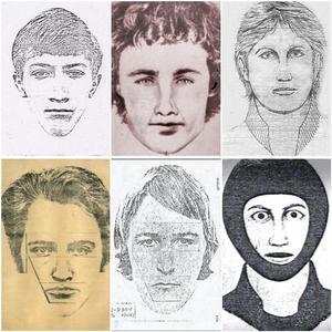 Différents portraits-robots du suspect.