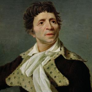 Portrait de Jean-Paul Marat, journaliste et homme politique révolutionnaire, peint par Joseph Boze (1745-1825).