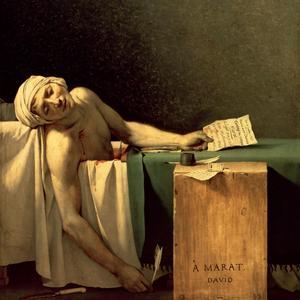 La mort de Marat peint par Jacques-Louis David, 1793.