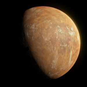 Vue d'artiste de la planète-candidate en orbite autour de l'étoile de Barnard.