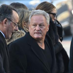 André Boudou, le père de Laeticia, lors de l'hommage populaire pour Johnny le 9 décembre.