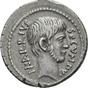 Denier en argent (43 av. J.-C.), République de Rome, Arrius Secundus.