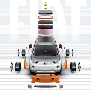 <i>Avec un choix de quatre toits, de quatrepare-chocs, de quatre enjoliveurs de roues et de quatre livrées extérieures,la personnalisationest la clef de voûte de ce prototype</i>.