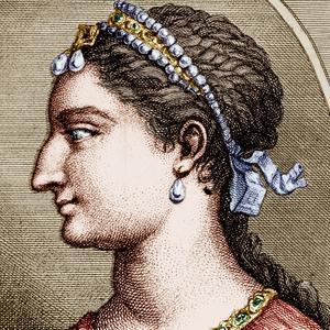 Cléopâtre: gravure de la reine d'Égypte, d'après un médaillon antique.