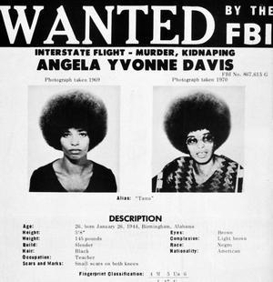 Avis de recherche émis par le FBI pour retrouver Angela Davis en 1970.