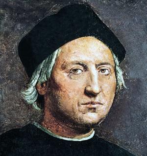 Christophe Colomb (1451-1506): portrait attribué à Ridolfo del Ghirlandaio vers 1525 et considéré comme étant le plus ressemblant.