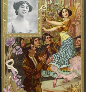 La belle danseuse espagnole enflamme les spectateurs parisiens.