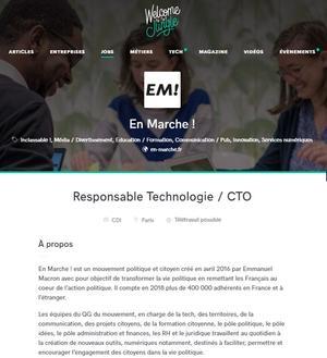 Annonce d'emploi pour LREM