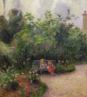 «Jardin de l'hermitage», Pissarro 1877.