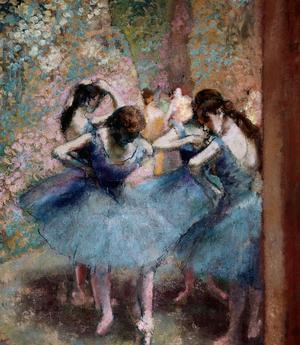 Les danseuses bleues , tableau d'Edgar Degas, 1890. Collection Musée d'Orsay.