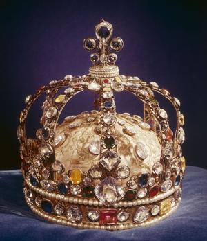 La couronne personnelle de Louis XV sur laquelle a été monté le Régent.