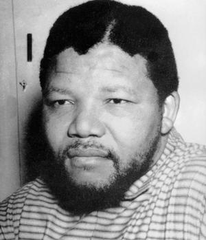 Nelson Mandela (1918-2013), photographié à Pretoria, le 12 juin 1964.