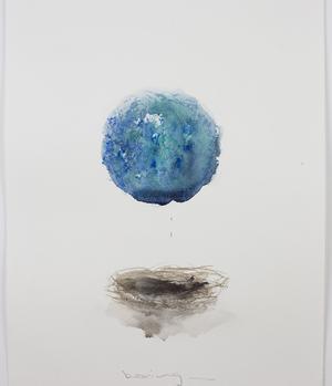«Bearing», 2018. Aquarelle, pastel sur papier, 28 x 37,1 cm (détail). Courtesy galerie Karsten Greve Cologne/Paris/St Moritz © Claire Morgan studio. <br/>