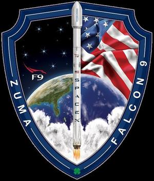 Badge de SpaceX pour la mission secrète Zuma.