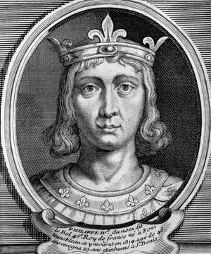 Philippe IV le bel, roi de France de 1285 à 1314.