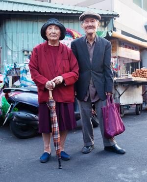 Mais que serait Taïwan sans les Taïwanais: Ici, des anciens sur leur trente et un.