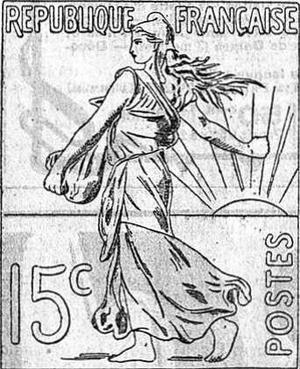 Specimen de «La Semeuse» paru dans Le Figaro.