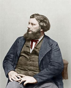 Gustave Courbet en 1865.