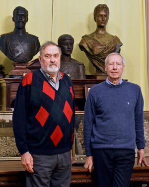 Alexandre Bobrikoff, conservateur du musée, et Gérard Gorokhoff, son trésorier.