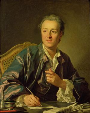 Portrait de Denis Diderot (1713-1784), encyclopédiste et philosophe, peint par Louis-Michel van Loo en 1767.