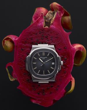 Montre Nautilus en acier, réf. 5711/1A, mouvement automatique, datant de 2013, Patek Philippe. Est. 30.000 - 50.000 €.