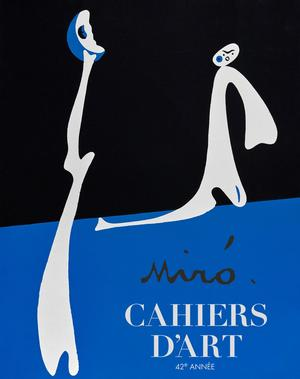 Superbe retour de Miró dans les <i>Cahiers d'Art</i>.