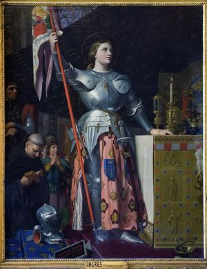 <i>Jeanne d'Arc au sacre de Charles VII</i>, d'Ingres, 1429.