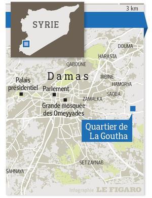 La Ghouta, au sud-est de Damas, en Syrie.
