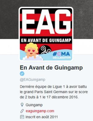 Bio Twitter de Guingamp