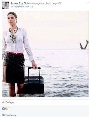 La photo retrouvée sur le compte Facebook de Samar Ezz Eldin, hôtesse de l'air du vol MS 804.