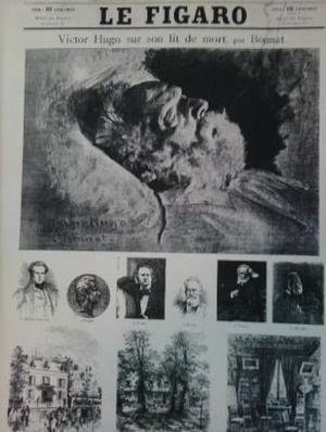 Le Figaro publie un supplément supplément exceptionnel le jour des funérailles de Victor Hugo, le 1er juin 1885. Le portrait est du peintre Léon Bonnat.