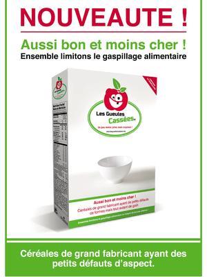 Le paquet de céréales sera commercialisé 0,99 euro. Crédit: les Gueules Cassées