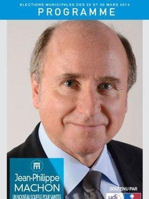 Affiche de campagne de Jean-Philippe Machon, maire divers droite de Saintes soutenu par l'UMP.
