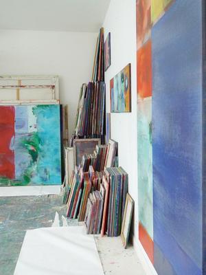 Atelier de Bert Rückert, un des artistes participants aux portes ouvertes des ateliers de Belleville.