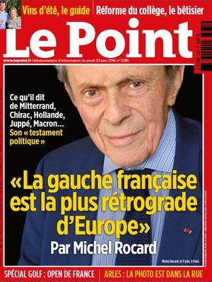 <i>Le Point</i> du 23 juin 2016.