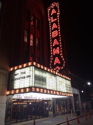 Le théâtre d'Alabama à Birmingham interdit aux Noirs jusqu'à la fin de la ségrégation.