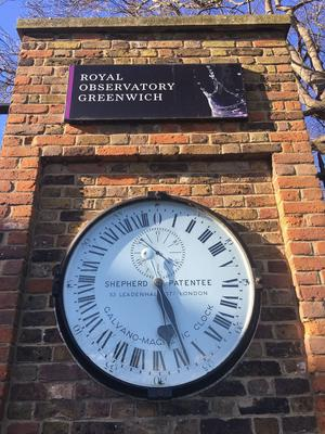 L'horloge de l'Observatoire royal de Greenwich.