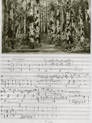 Partition du 1er acte «La Forêt» de l'opéra «Pelléas et Mélisande» de Claude Debussy.