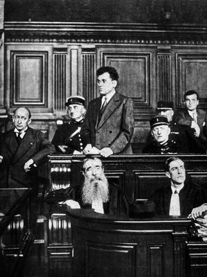 Paul Gurgoloff, l'assassin du président Paul Doumer, lors de son procès en juillet 1932.