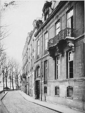 Hôtel Pimodan, Paris.